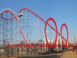 3 Rings Vintage Roller Coaster