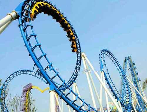 5 Rings Vintage Roller Coaster