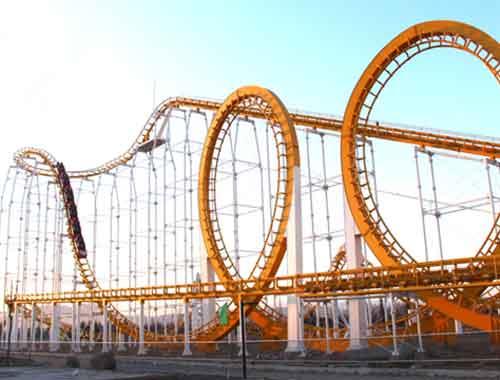 Steel Vintage Roller Coaster