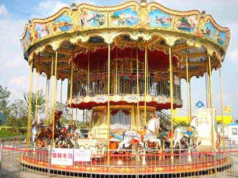 Vintage Double Decker Carousel